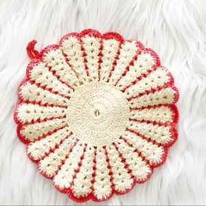 Vintage Woven Knitted Place Mat Coaster